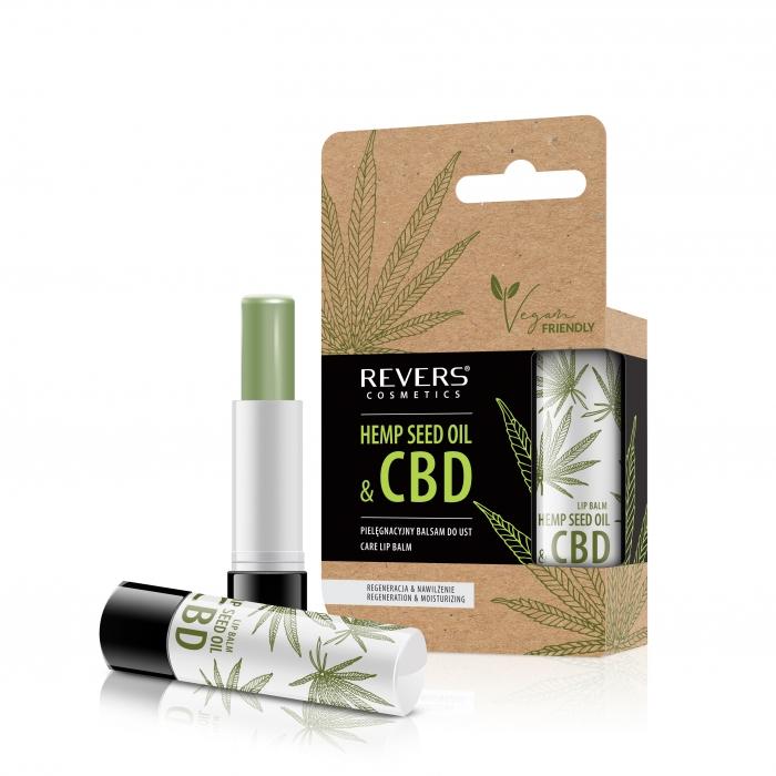 Nourishing lip balm with natural hemp oil with CBD