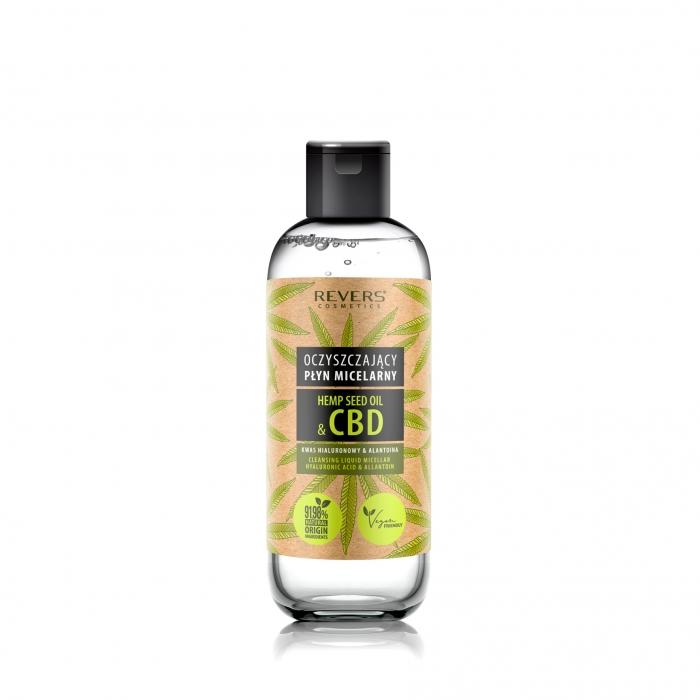 Oczyszczający Płyn Micelarny z Naturalnym Olejem Konopnym z CBD