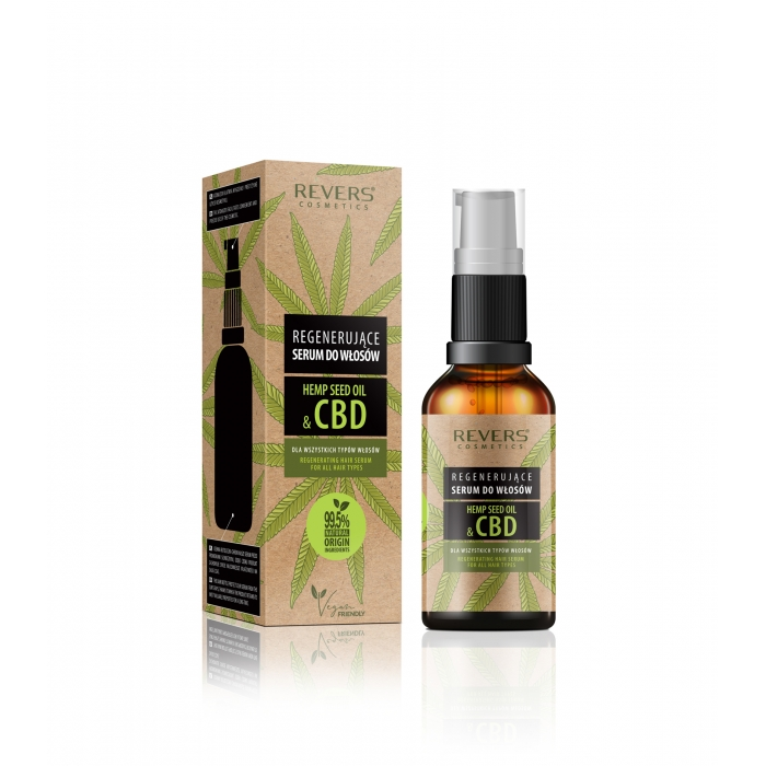 Rgenerujące Serum do włosów z naturalnym olejem konopnym z CBD
