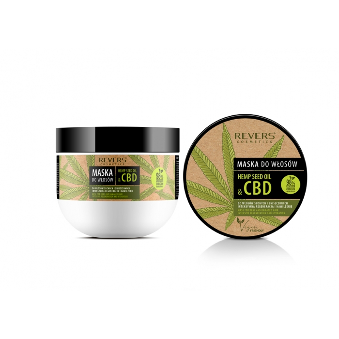 Hair mask with natural hemp oil with CBD